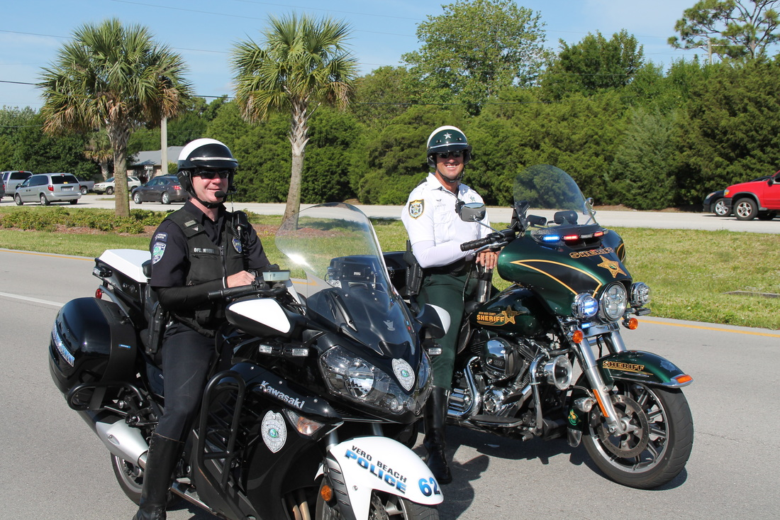 Vero Beach PD Motor Officer with Indian River County Motor Officer